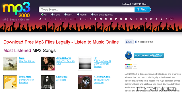 20 free music download websites.