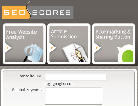 SEO Scores - Free Website Analysis - Online SEO Tools