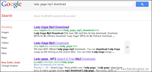 lady gaga mp3 download - Google Search