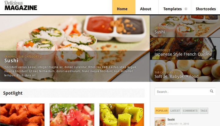 21 wordpress themes for food blogger delicious magazine wordpress theme forumfinder Gallery