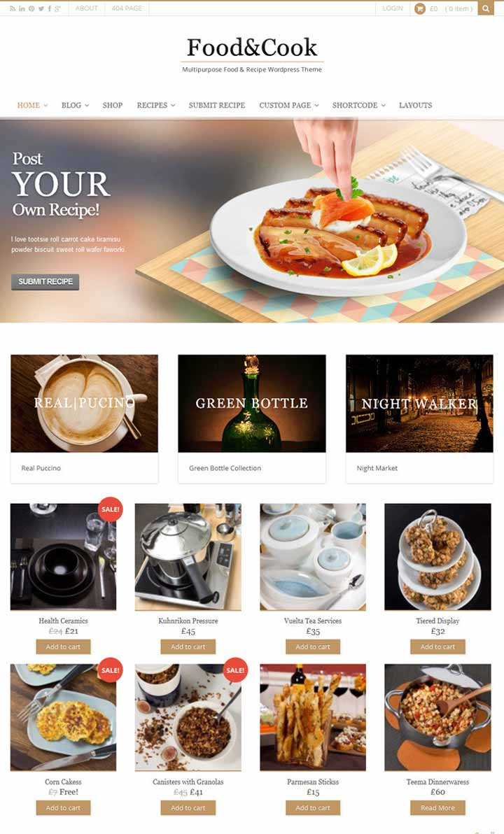 Food Blogger wordpress theme