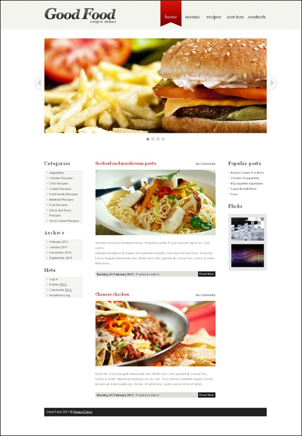 Good-Food-WordPress-theme