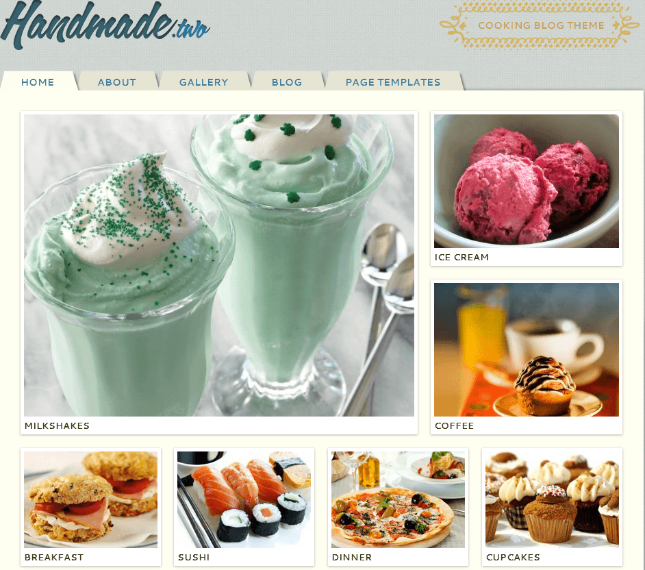 Cooking wordpress theme