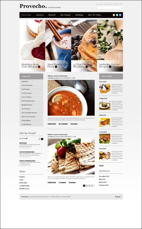 Provecho-cooking-blog-WordPress-theme