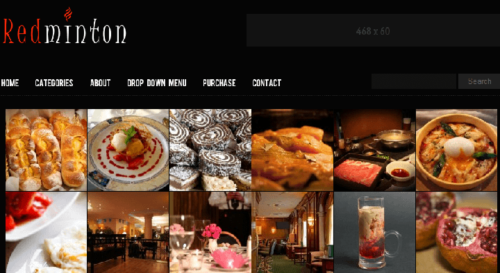 Redminton foood blogger wordpress theme