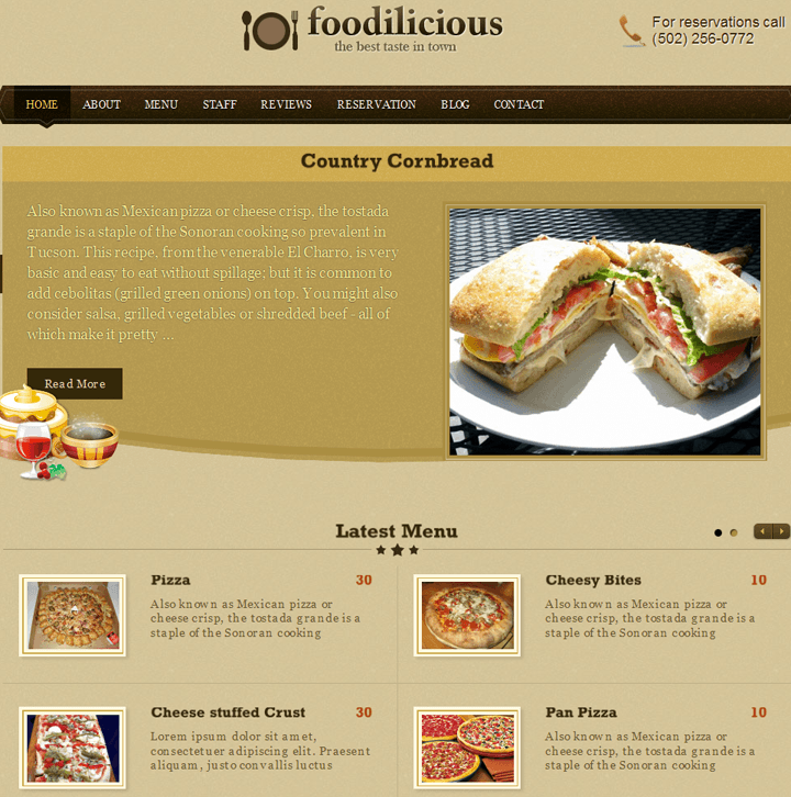 Restaurant theme Foodilicious Theme