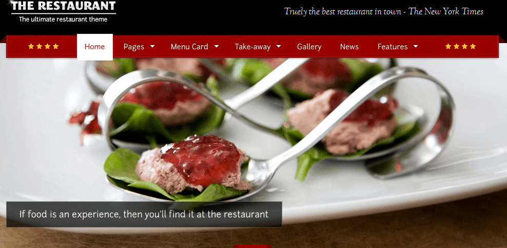 The Restaurant wordpress theme for restaurant