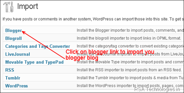 bloggerto wordpress import