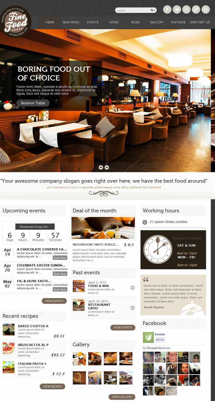 Caffee House WordPress theme
