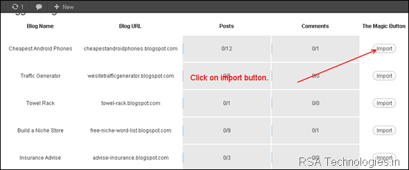 import blogger blog into wordpress