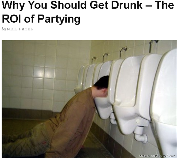 Why You Should Get Drunk – The ROI of Partying