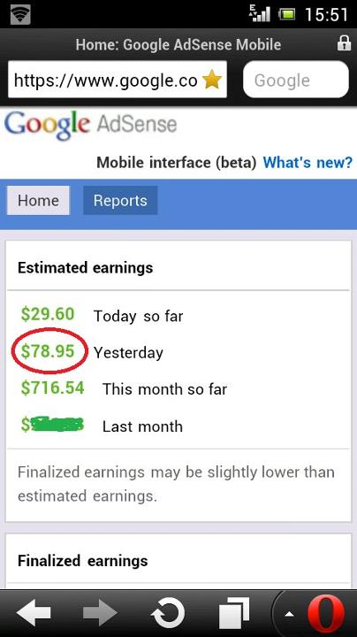 google earning per day