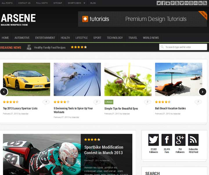 free Magzine wordpress theme