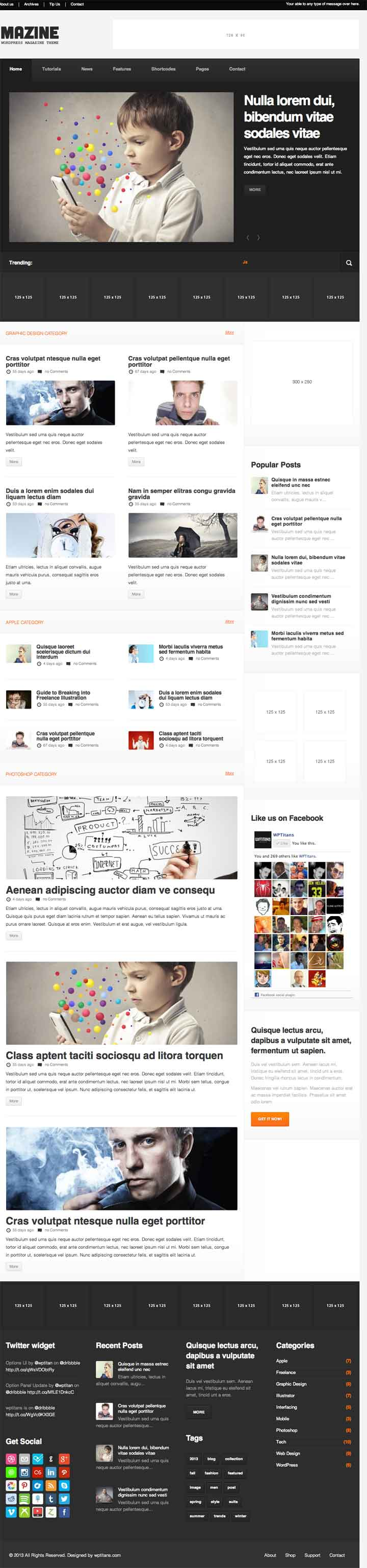 Responsive magzine wordpress theme