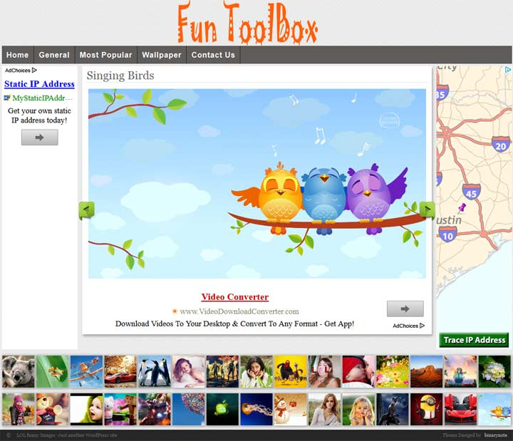 funny image wordpress template