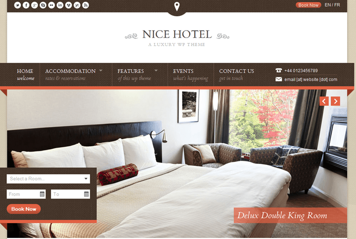 nice hotel wordpress template
