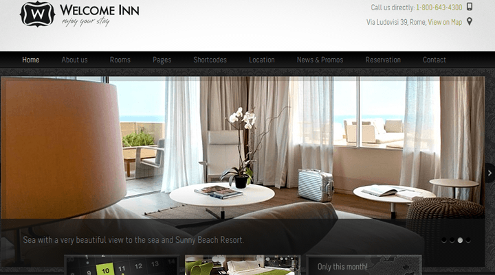 Hotel Mamangement wordpress theme