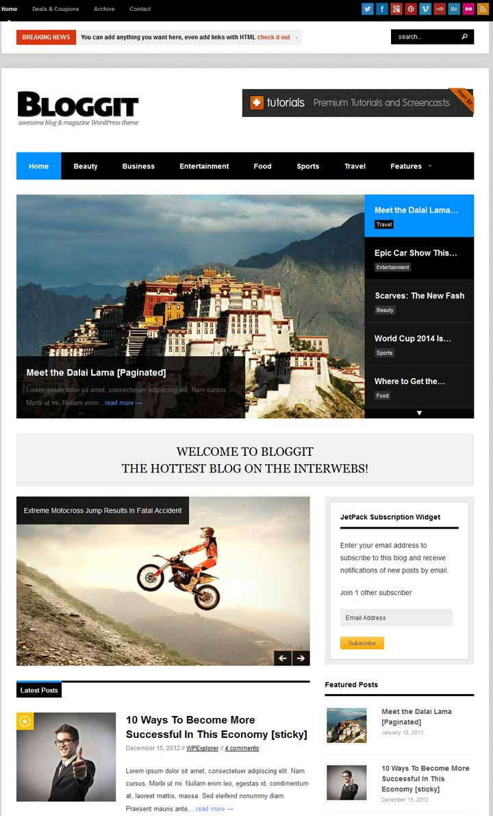 responsive adsense ready wordpress theme
