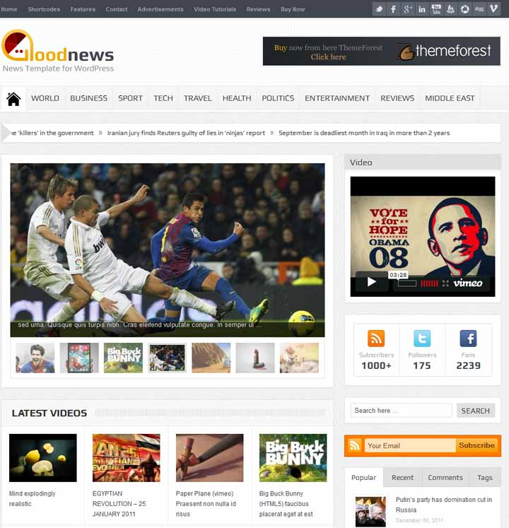Good New magzine wordpress theme