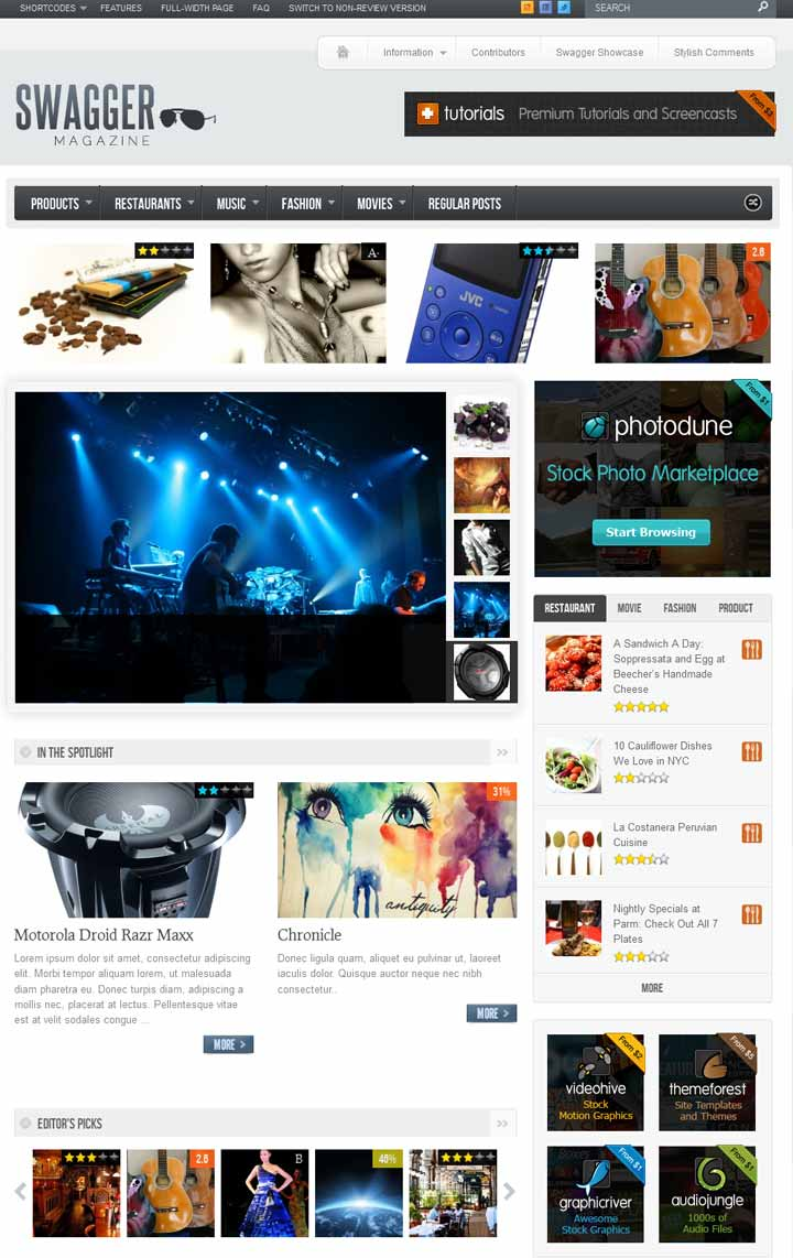 swaggar magzine wordpress theme