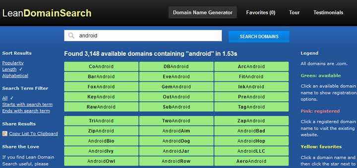 Domain-Name-Generator tools