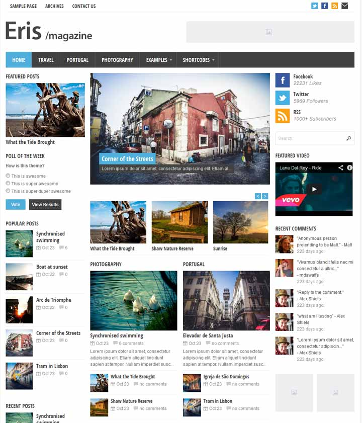 Online news wordpress theme