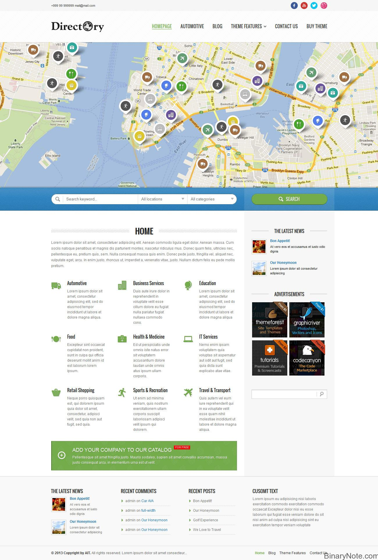 Business Listing wordpress themes