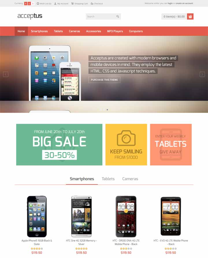Theme for mobile store
