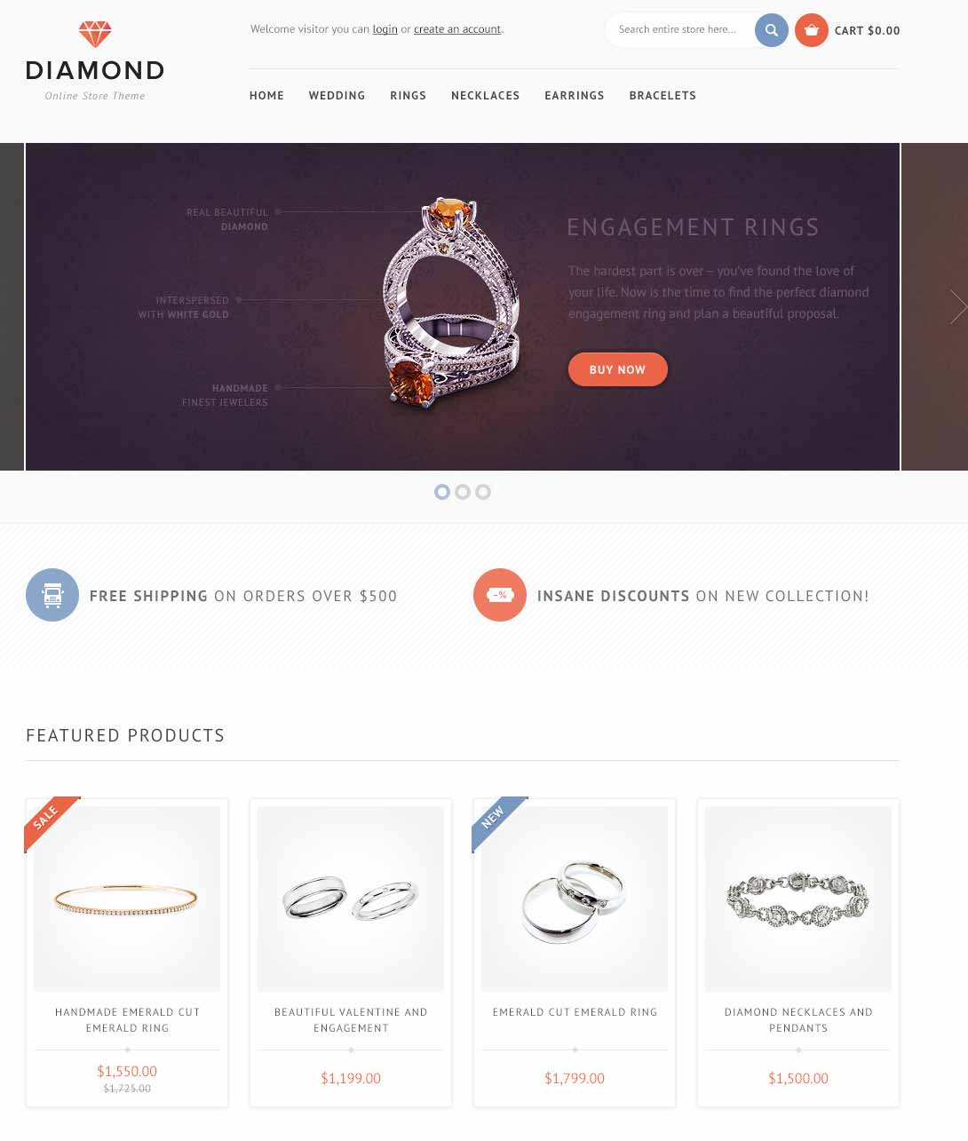 opencart theme for jewellery shop