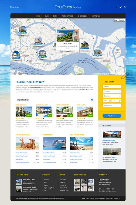 tour Operator WordPress Theme