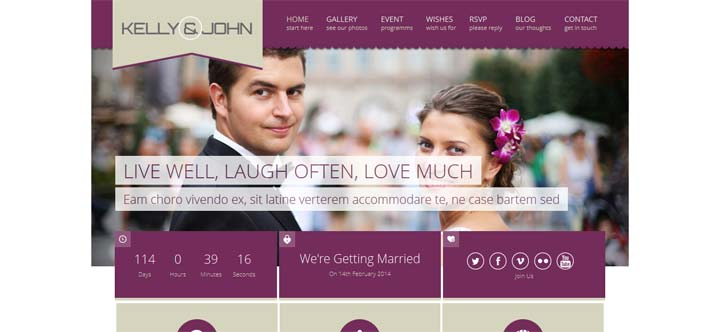 Responsive-WordPress-Weddin