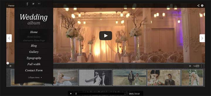 Wedding-album WordPress Theme