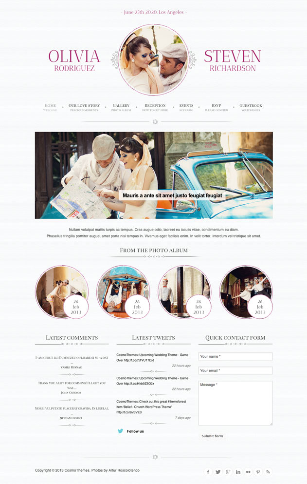 23 Most beautifully crafted WordPress themes for Wedding