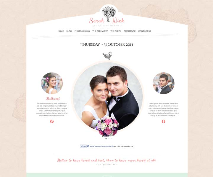 wedding-day WordPress Template