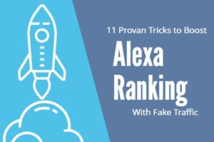 Alexa ranking with Fake Traffic
