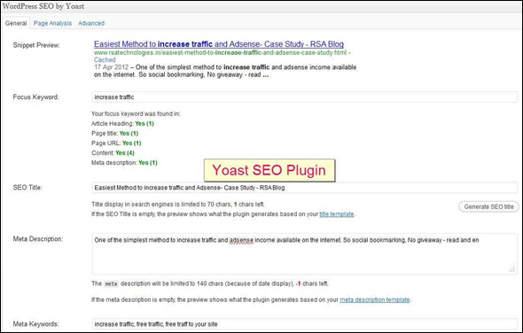 SEO Plugin and Article SEO