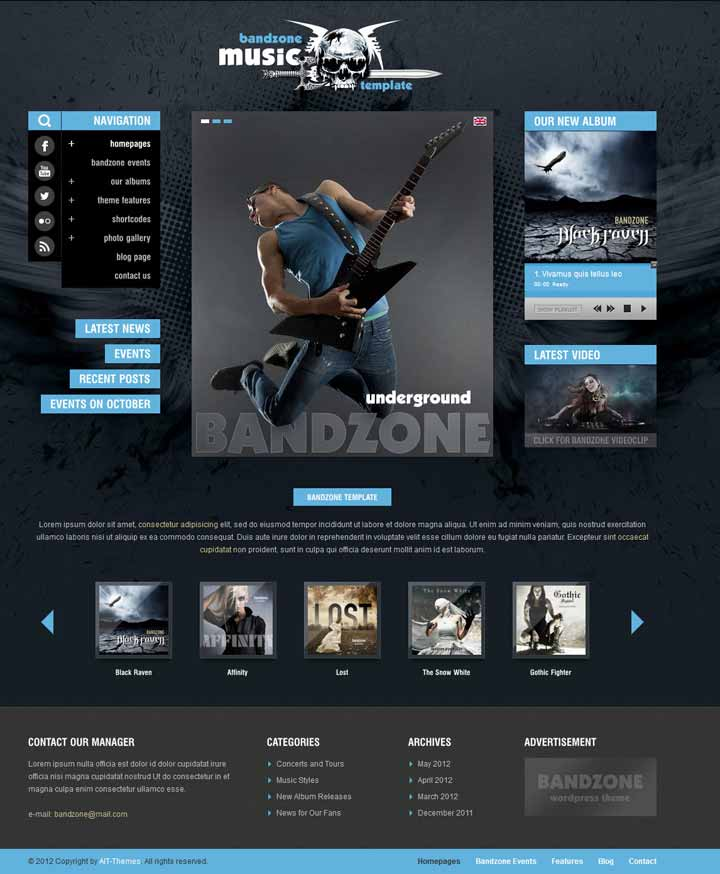 wp theme for musicians