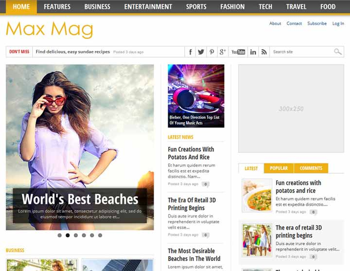 max mag magzine theme for wordpress