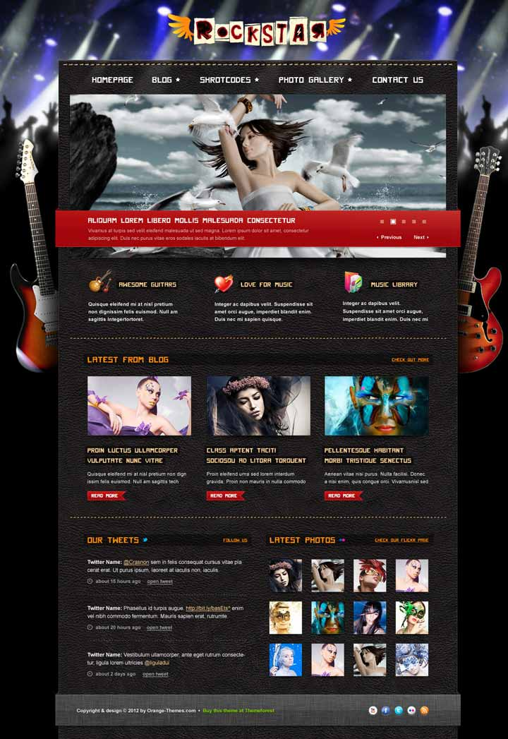 responsive wp theme for bands