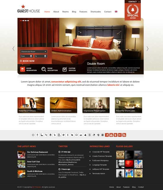 Guest House wordpress theme