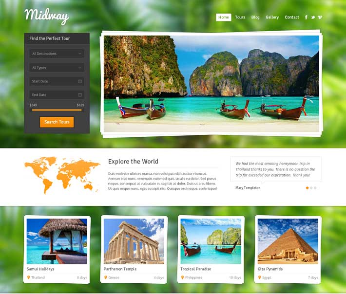 Tour Operator Wordpress Template