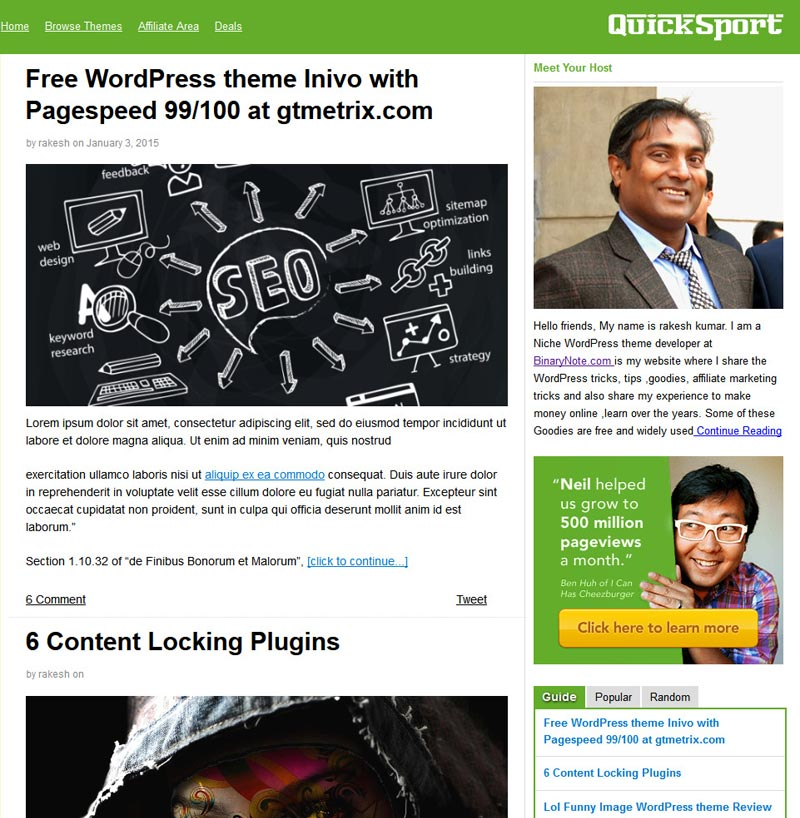 QuickSprout WordPress theme Clone