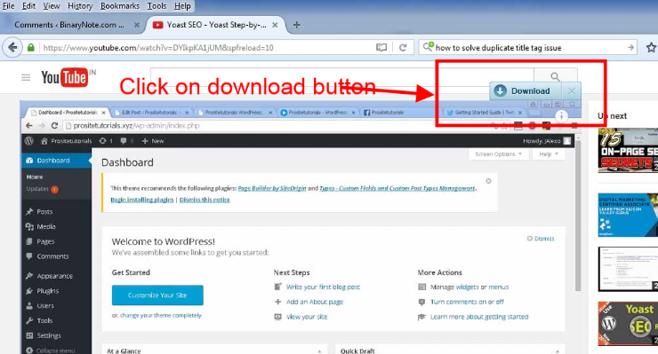 Downloading YouTube Vide Using Browser AddOns