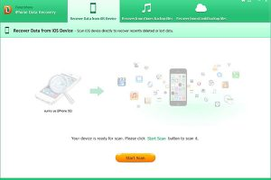 iPhone data recovery scan