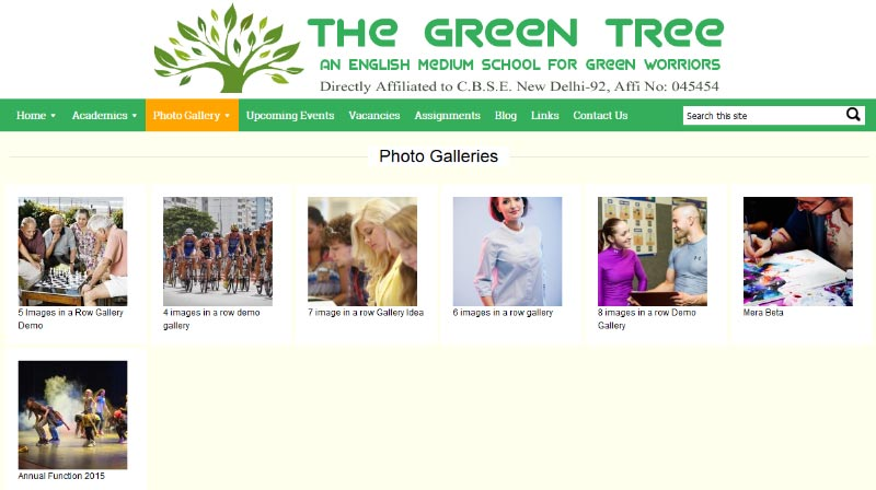 photo-gallery in Education Theme