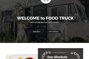 WordPress Theme for food truck