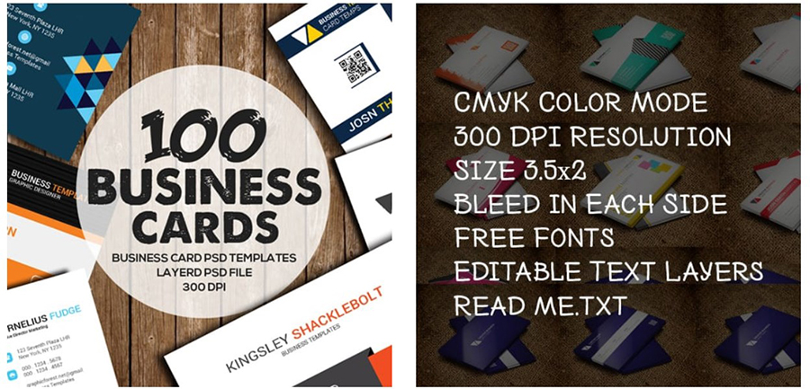 100 Business Card Bundle