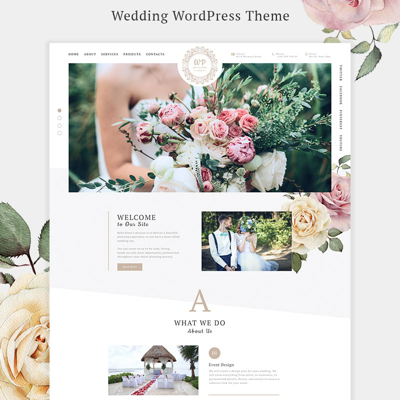 Belle Fleur - Wedding Landing Elementor WordPress Theme