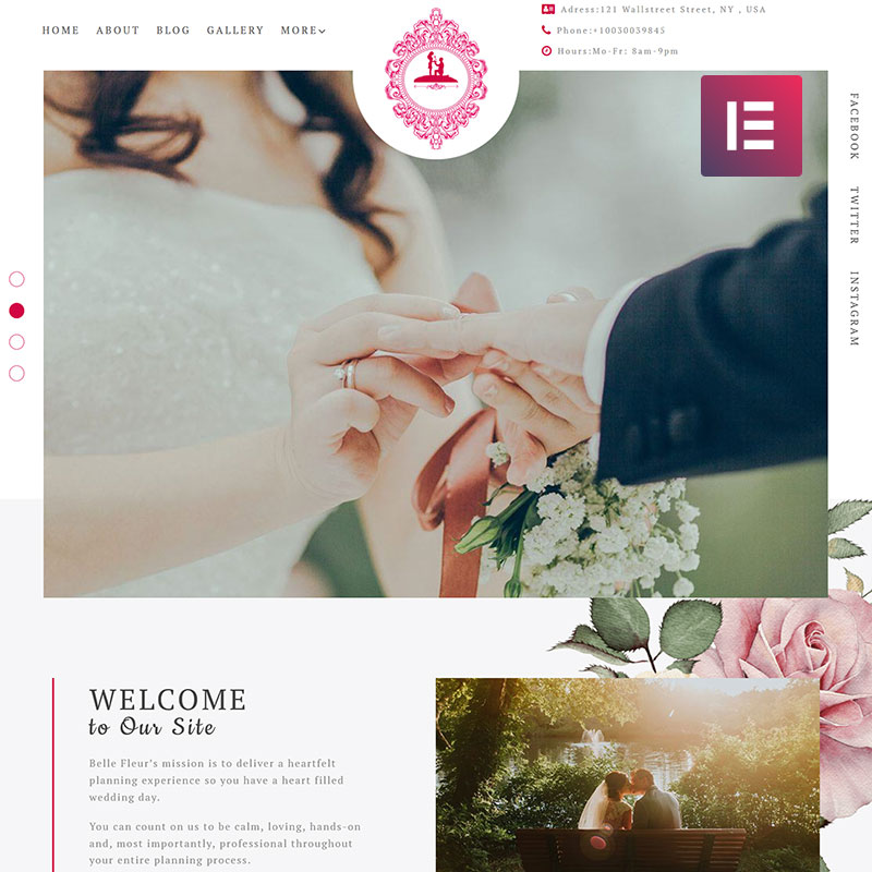 ForeverLove - Wedding Landing Elementor WordPress Theme
