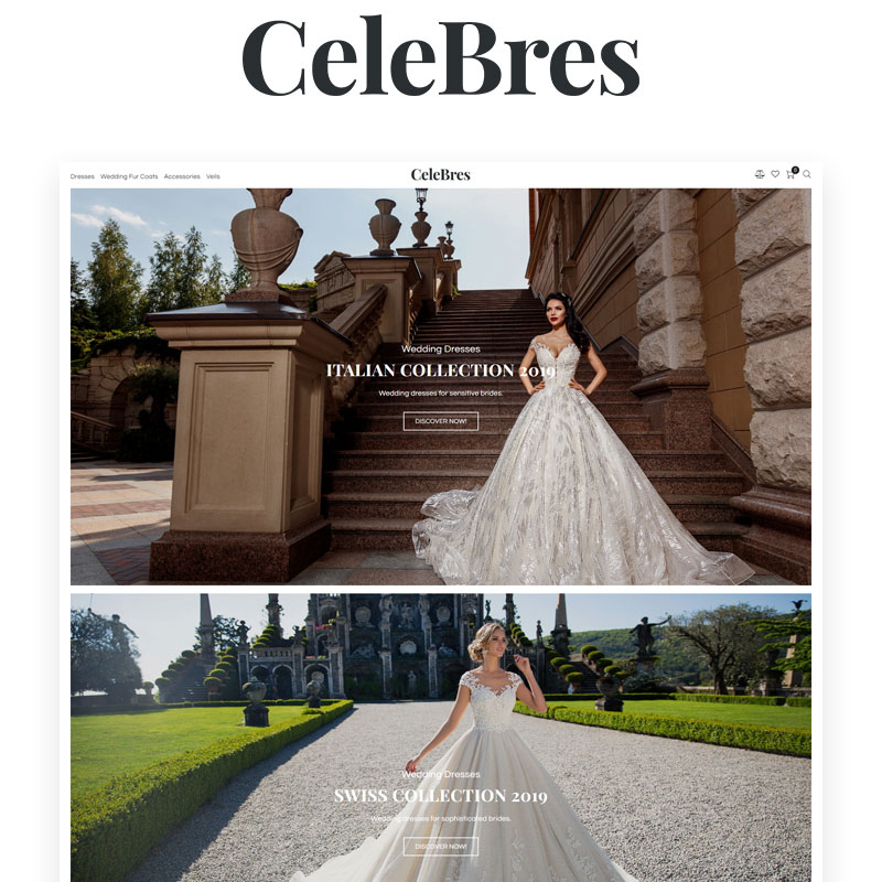 CeleBres - Wedding Salon ECommerce Modern Elementor WooCommerce Theme